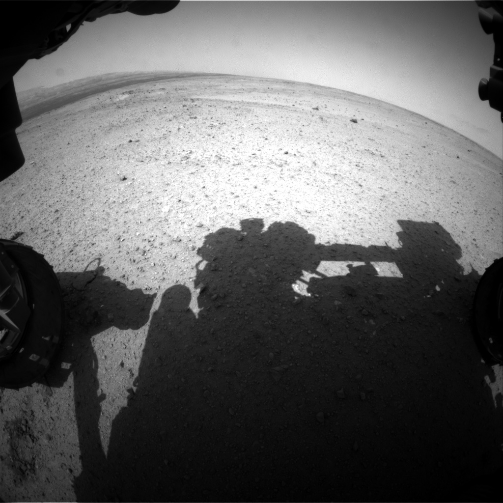 Nasa's Mars rover Curiosity acquired this image using its Front Hazard Avoidance Camera (Front Hazcam) on Sol 369, at drive 690, site number 12