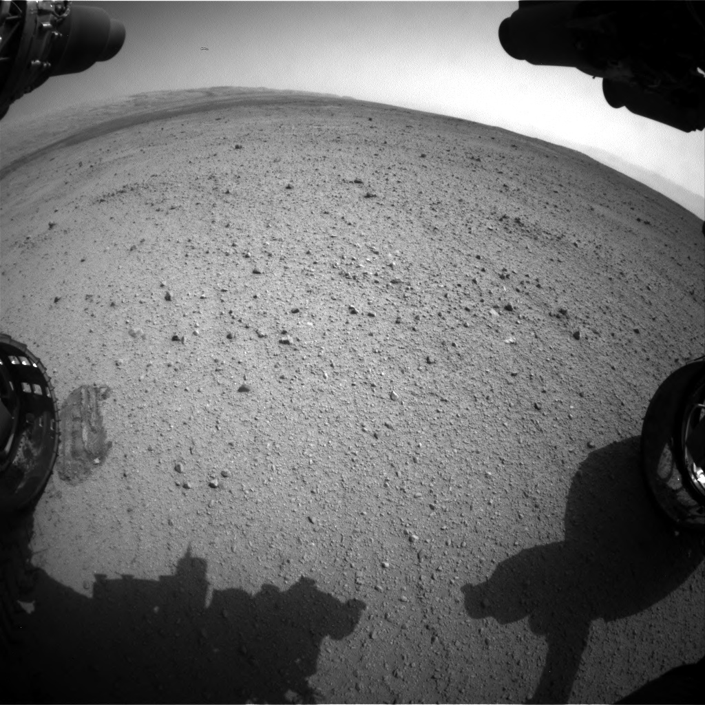 Nasa's Mars rover Curiosity acquired this image using its Front Hazard Avoidance Camera (Front Hazcam) on Sol 369, at drive 0, site number 13