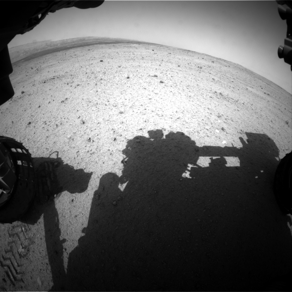 Nasa's Mars rover Curiosity acquired this image using its Front Hazard Avoidance Camera (Front Hazcam) on Sol 370, at drive 0, site number 13