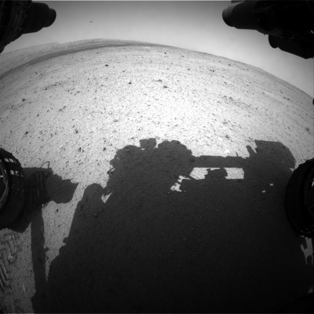 NASA's Mars rover Curiosity acquired this image using its Front Hazard Avoidance Cameras (Front Hazcams) on Sol 370