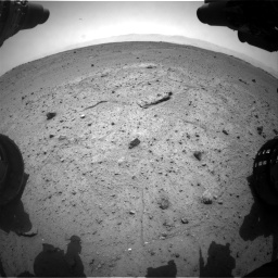 Nasa's Mars rover Curiosity acquired this image using its Front Hazard Avoidance Camera (Front Hazcam) on Sol 370, at drive 282, site number 13