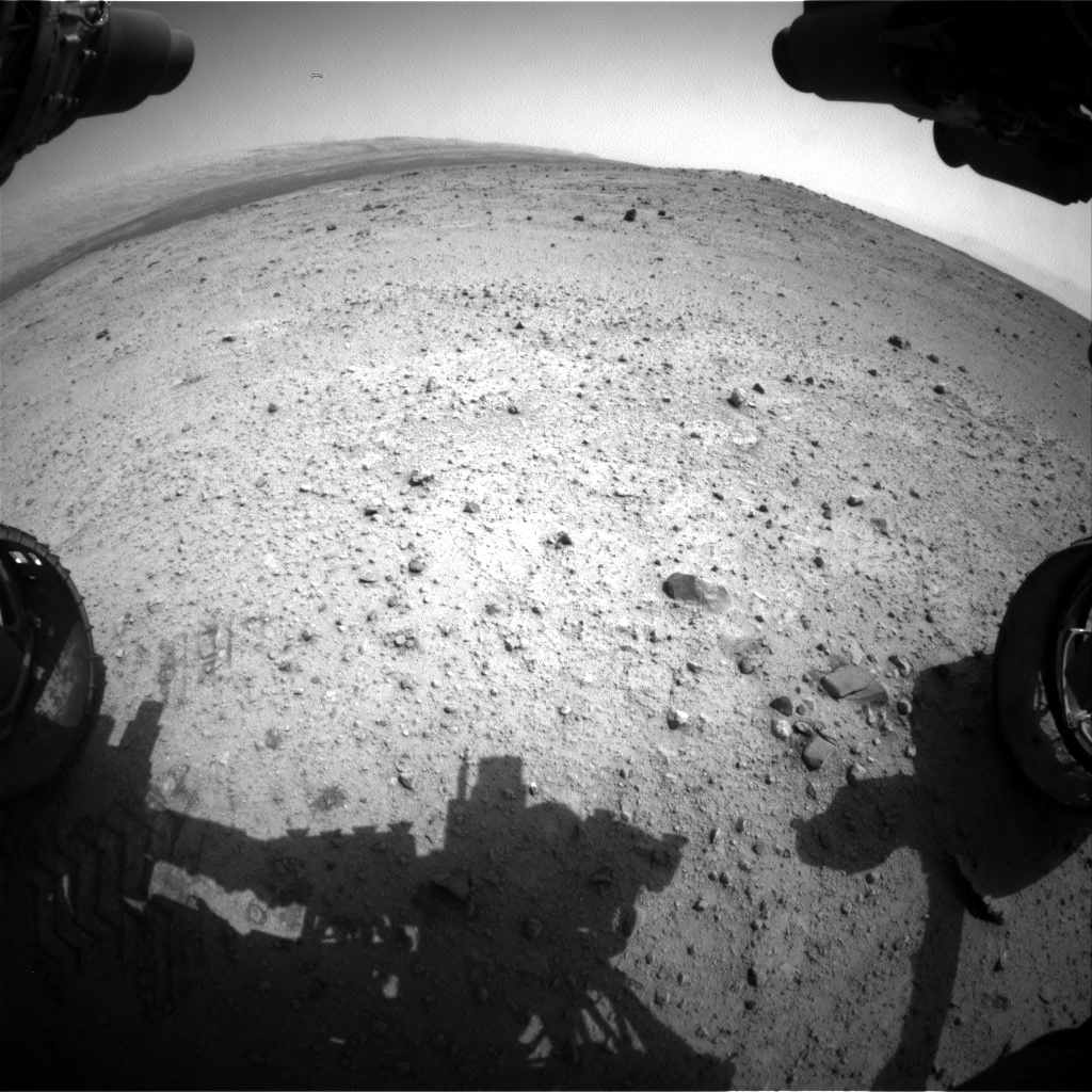 Nasa's Mars rover Curiosity acquired this image using its Front Hazard Avoidance Camera (Front Hazcam) on Sol 370, at drive 292, site number 13