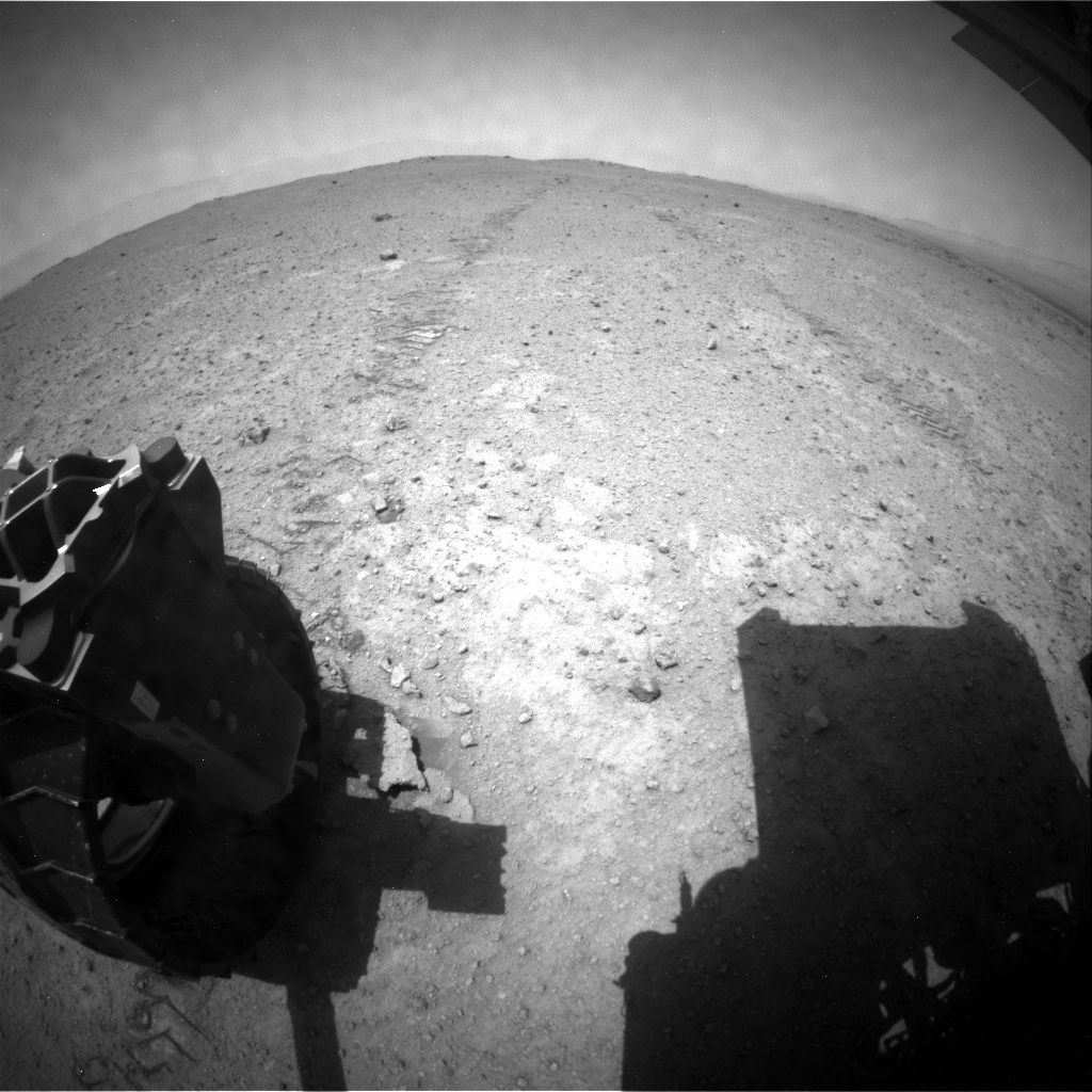 NASA's Mars rover Curiosity acquired this image using its Rear Hazard Avoidance Cameras (Rear Hazcams) on Sol 370