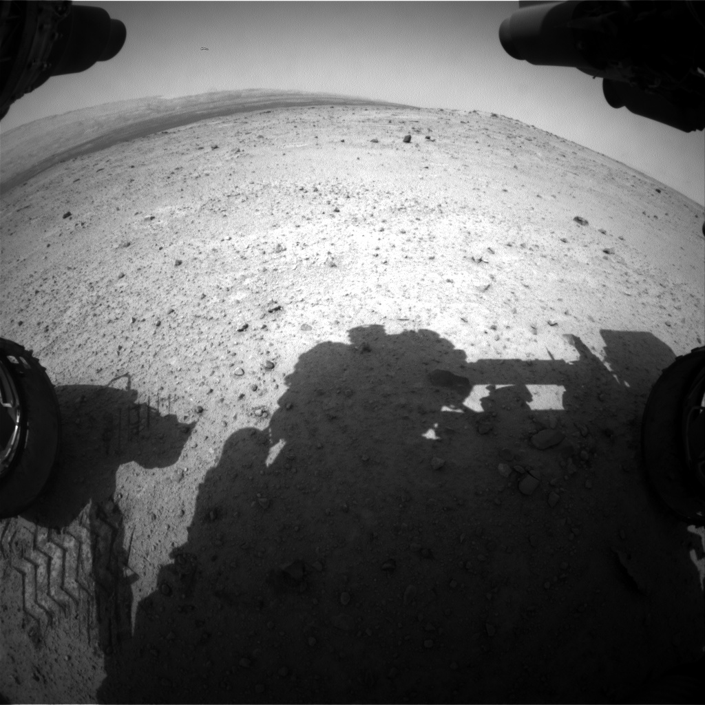 Nasa's Mars rover Curiosity acquired this image using its Front Hazard Avoidance Camera (Front Hazcam) on Sol 371, at drive 292, site number 13