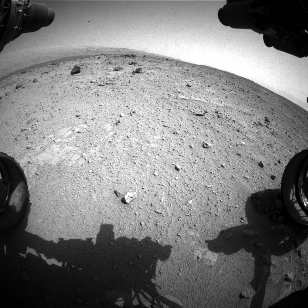 Nasa's Mars rover Curiosity acquired this image using its Front Hazard Avoidance Camera (Front Hazcam) on Sol 371, at drive 974, site number 13