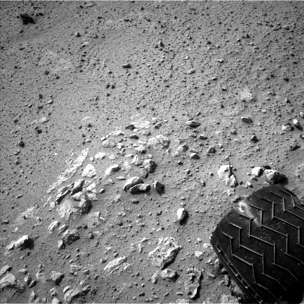 Nasa's Mars rover Curiosity acquired this image using its Left Navigation Camera on Sol 371, at drive 974, site number 13