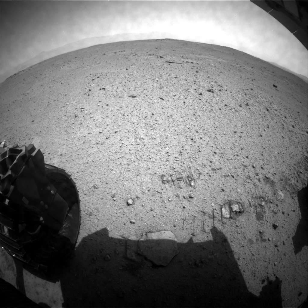 NASA's Mars rover Curiosity acquired this image using its Rear Hazard Avoidance Cameras (Rear Hazcams) on Sol 371