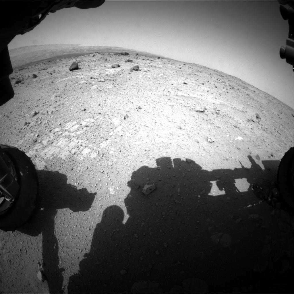 Nasa's Mars rover Curiosity acquired this image using its Front Hazard Avoidance Camera (Front Hazcam) on Sol 372, at drive 974, site number 13