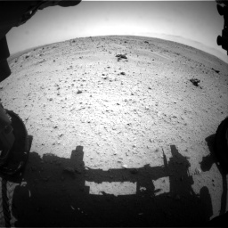 Nasa's Mars rover Curiosity acquired this image using its Front Hazard Avoidance Camera (Front Hazcam) on Sol 372, at drive 1166, site number 13