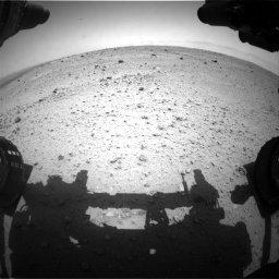 Nasa's Mars rover Curiosity acquired this image using its Front Hazard Avoidance Camera (Front Hazcam) on Sol 372, at drive 1088, site number 13