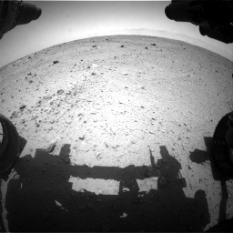Nasa's Mars rover Curiosity acquired this image using its Front Hazard Avoidance Camera (Front Hazcam) on Sol 372, at drive 1106, site number 13