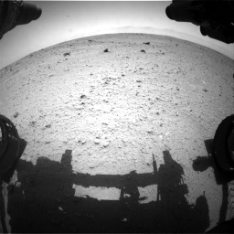 Nasa's Mars rover Curiosity acquired this image using its Front Hazard Avoidance Camera (Front Hazcam) on Sol 372, at drive 1136, site number 13