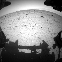 Nasa's Mars rover Curiosity acquired this image using its Front Hazard Avoidance Camera (Front Hazcam) on Sol 372, at drive 1154, site number 13