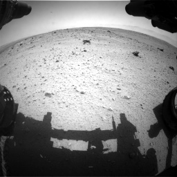 Nasa's Mars rover Curiosity acquired this image using its Front Hazard Avoidance Camera (Front Hazcam) on Sol 372, at drive 1160, site number 13
