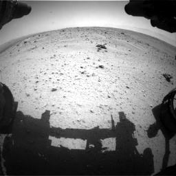 Nasa's Mars rover Curiosity acquired this image using its Front Hazard Avoidance Camera (Front Hazcam) on Sol 372, at drive 1172, site number 13