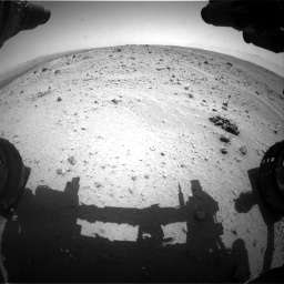 Nasa's Mars rover Curiosity acquired this image using its Front Hazard Avoidance Camera (Front Hazcam) on Sol 372, at drive 1190, site number 13