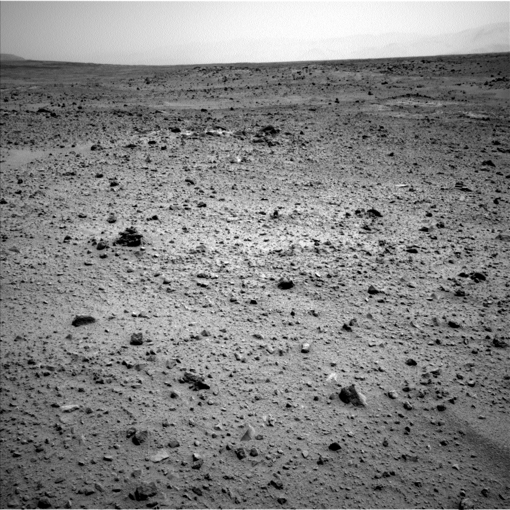 Nasa's Mars rover Curiosity acquired this image using its Left Navigation Camera on Sol 372, at drive 0, site number 14