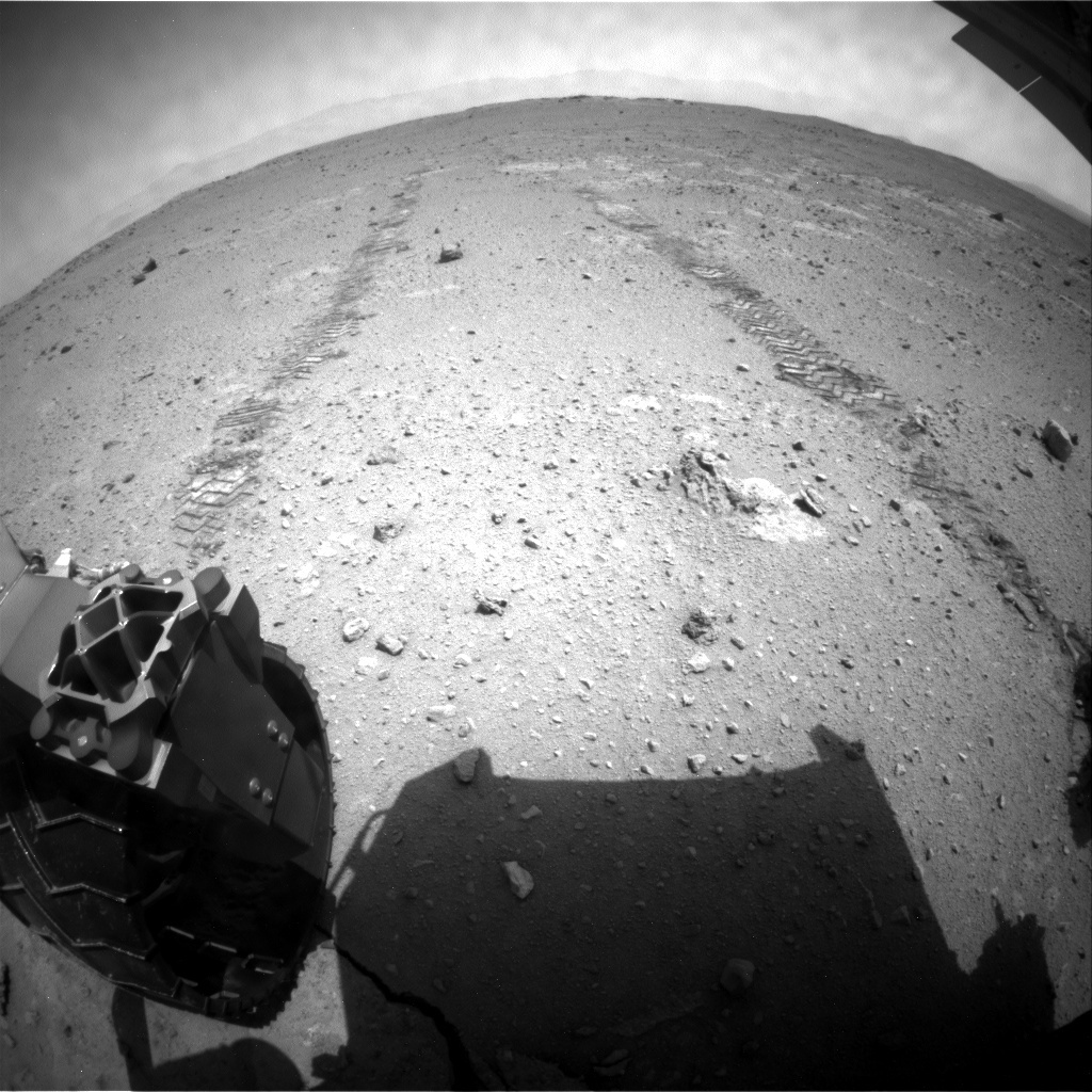 NASA's Mars rover Curiosity acquired this image using its Rear Hazard Avoidance Cameras (Rear Hazcams) on Sol 372