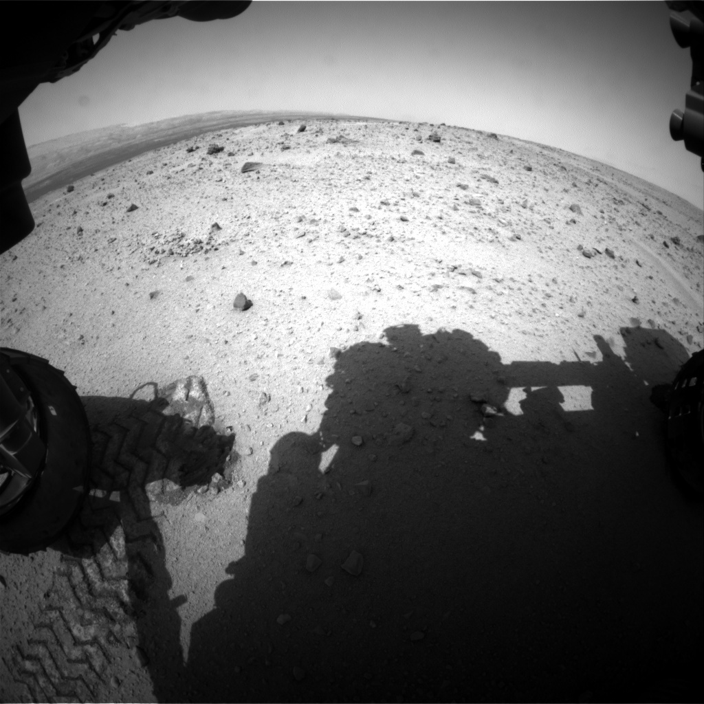 NASA's Mars rover Curiosity acquired this image using its Front Hazard Avoidance Cameras (Front Hazcams) on Sol 373