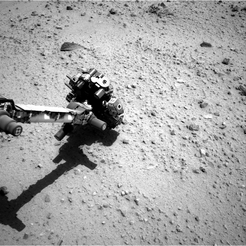 Nasa's Mars rover Curiosity acquired this image using its Right Navigation Camera on Sol 373, at drive 0, site number 14