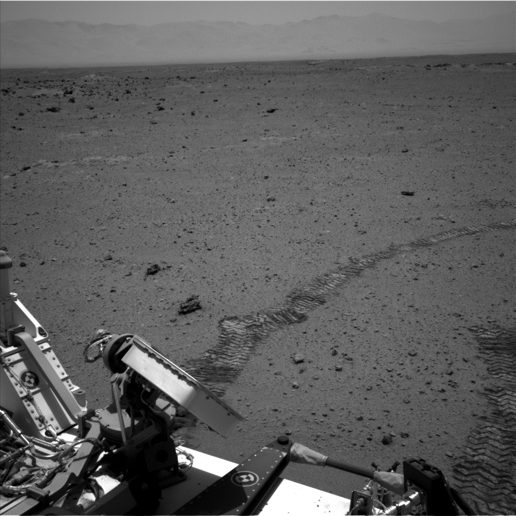Nasa's Mars rover Curiosity acquired this image using its Left Navigation Camera on Sol 374, at drive 12, site number 14