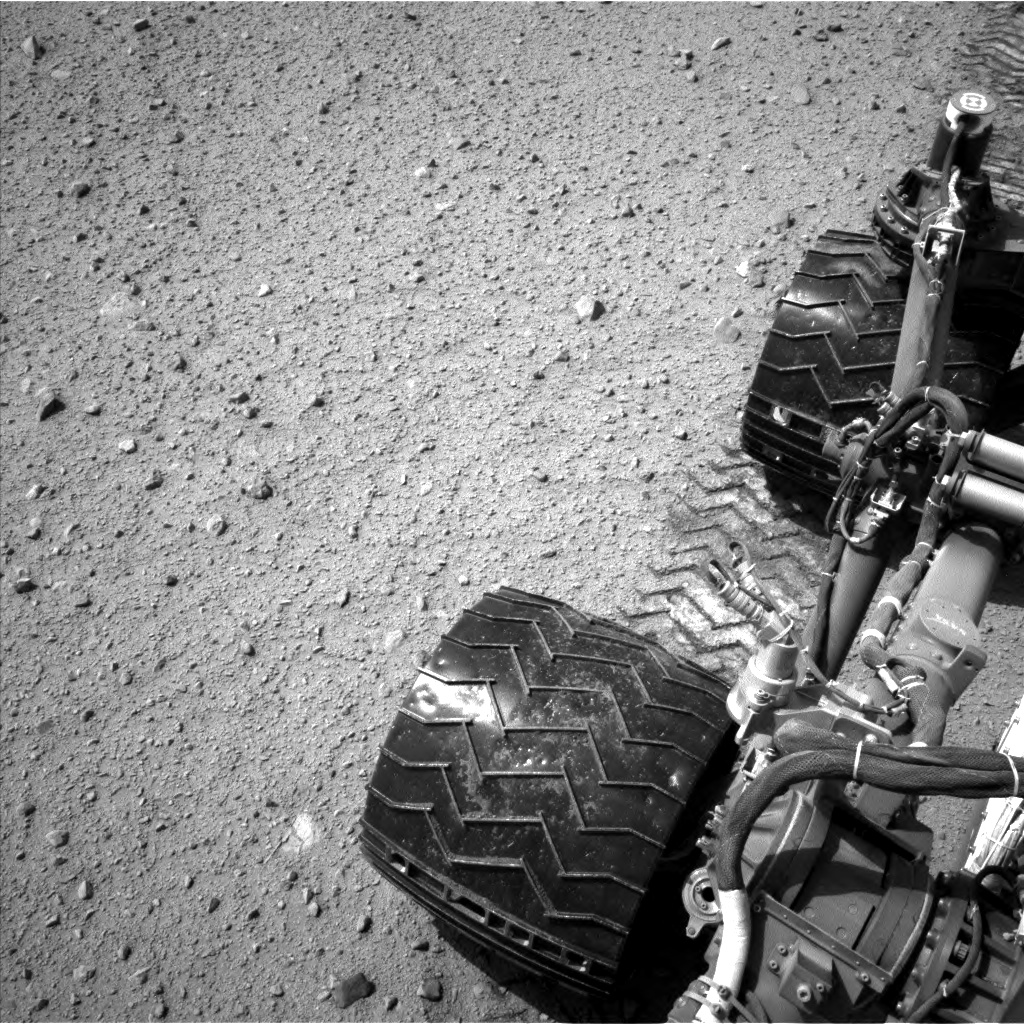 Nasa's Mars rover Curiosity acquired this image using its Left Navigation Camera on Sol 374, at drive 156, site number 14