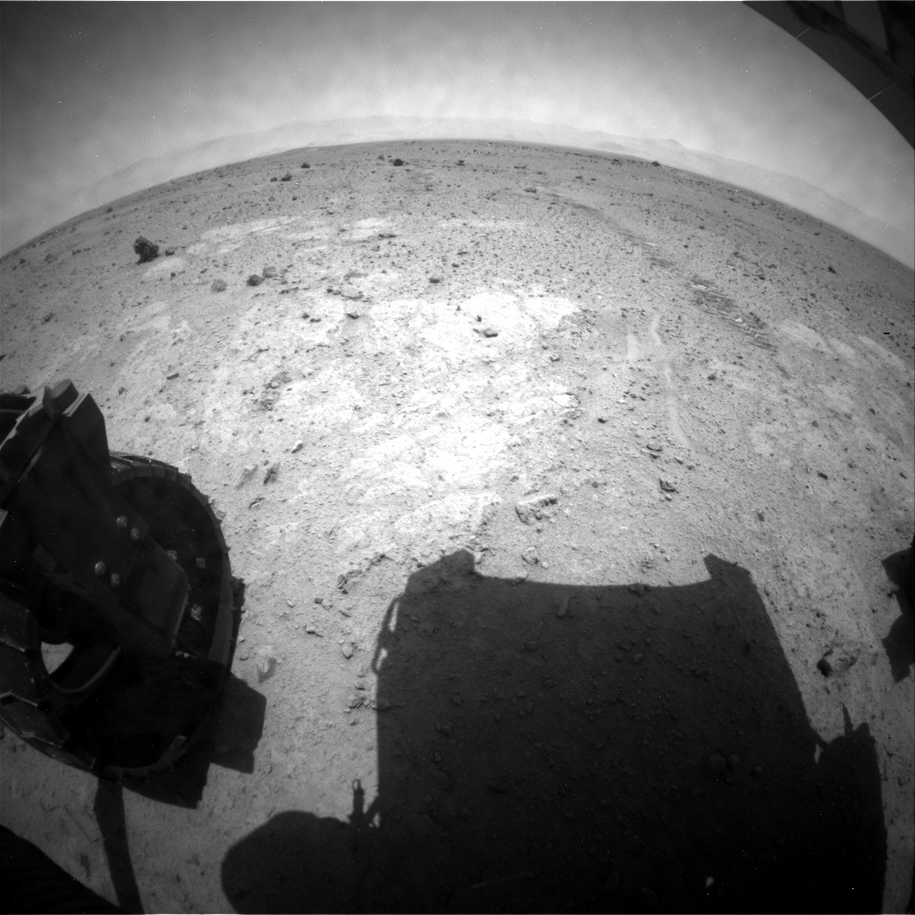 NASA's Mars rover Curiosity acquired this image using its Rear Hazard Avoidance Cameras (Rear Hazcams) on Sol 374