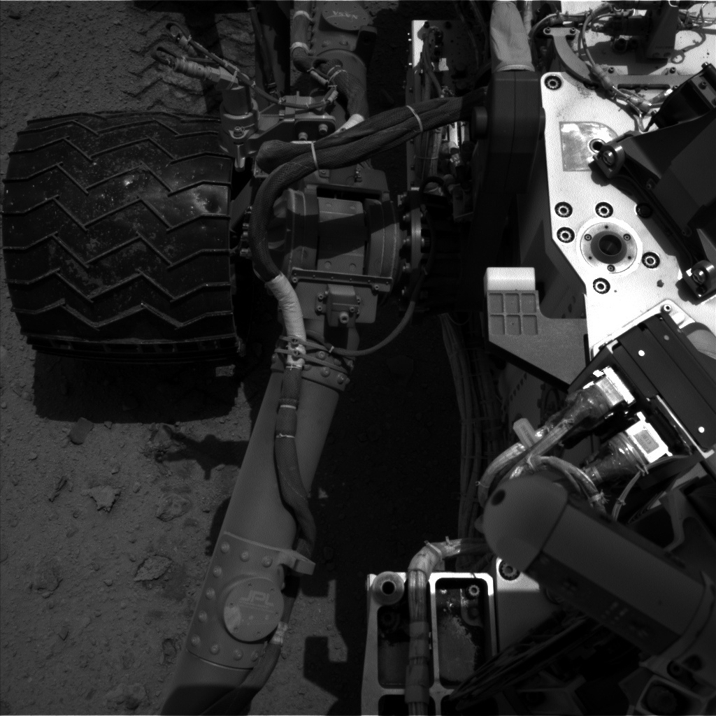NASA's Mars rover Curiosity acquired this image using its Left Navigation Camera (Navcams) on Sol 375