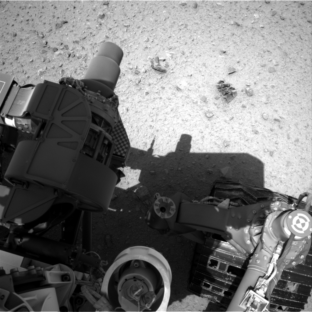 NASA's Mars rover Curiosity acquired this image using its Right Navigation Cameras (Navcams) on Sol 375