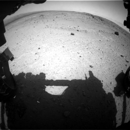 Nasa's Mars rover Curiosity acquired this image using its Front Hazard Avoidance Camera (Front Hazcam) on Sol 376, at drive 294, site number 14