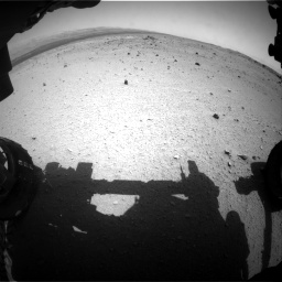 Nasa's Mars rover Curiosity acquired this image using its Front Hazard Avoidance Camera (Front Hazcam) on Sol 376, at drive 342, site number 14