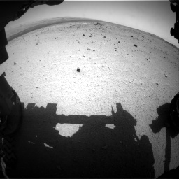 Nasa's Mars rover Curiosity acquired this image using its Front Hazard Avoidance Camera (Front Hazcam) on Sol 376, at drive 354, site number 14