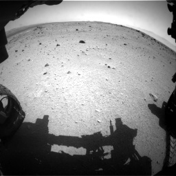 Nasa's Mars rover Curiosity acquired this image using its Front Hazard Avoidance Camera (Front Hazcam) on Sol 376, at drive 372, site number 14