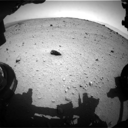 NASA's Mars rover Curiosity acquired this image using its Front Hazard Avoidance Cameras (Front Hazcams) on Sol 376