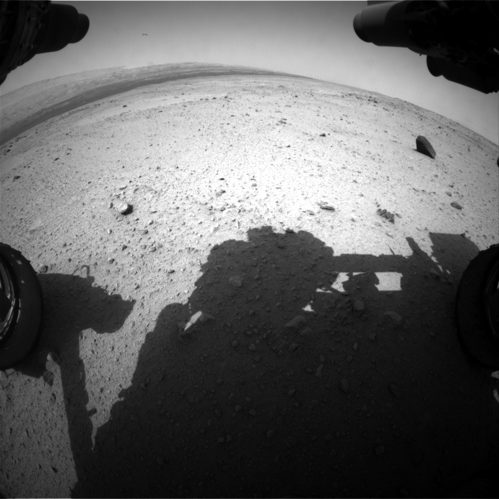 Nasa's Mars rover Curiosity acquired this image using its Front Hazard Avoidance Camera (Front Hazcam) on Sol 376, at drive 156, site number 14