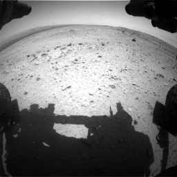 Nasa's Mars rover Curiosity acquired this image using its Front Hazard Avoidance Camera (Front Hazcam) on Sol 376, at drive 252, site number 14