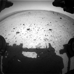 Nasa's Mars rover Curiosity acquired this image using its Front Hazard Avoidance Camera (Front Hazcam) on Sol 376, at drive 258, site number 14