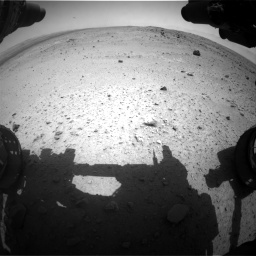 Nasa's Mars rover Curiosity acquired this image using its Front Hazard Avoidance Camera (Front Hazcam) on Sol 376, at drive 276, site number 14