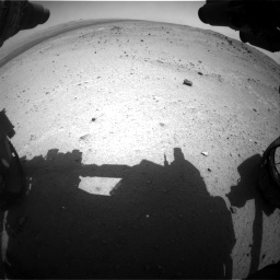 Nasa's Mars rover Curiosity acquired this image using its Front Hazard Avoidance Camera (Front Hazcam) on Sol 376, at drive 300, site number 14