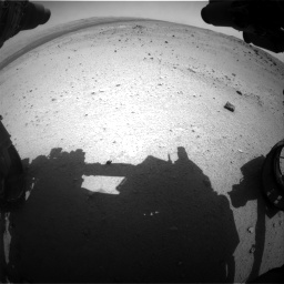 Nasa's Mars rover Curiosity acquired this image using its Front Hazard Avoidance Camera (Front Hazcam) on Sol 376, at drive 306, site number 14