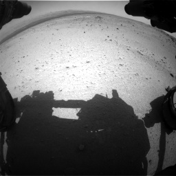 Nasa's Mars rover Curiosity acquired this image using its Front Hazard Avoidance Camera (Front Hazcam) on Sol 376, at drive 312, site number 14