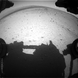 Nasa's Mars rover Curiosity acquired this image using its Front Hazard Avoidance Camera (Front Hazcam) on Sol 376, at drive 318, site number 14