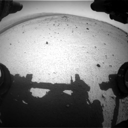 Nasa's Mars rover Curiosity acquired this image using its Front Hazard Avoidance Camera (Front Hazcam) on Sol 376, at drive 348, site number 14