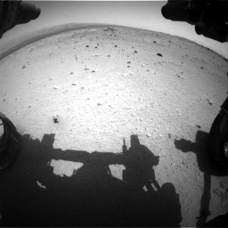 Nasa's Mars rover Curiosity acquired this image using its Front Hazard Avoidance Camera (Front Hazcam) on Sol 376, at drive 360, site number 14
