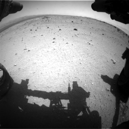 Nasa's Mars rover Curiosity acquired this image using its Front Hazard Avoidance Camera (Front Hazcam) on Sol 376, at drive 366, site number 14
