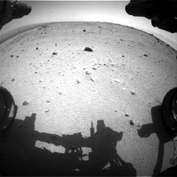Nasa's Mars rover Curiosity acquired this image using its Front Hazard Avoidance Camera (Front Hazcam) on Sol 376, at drive 384, site number 14
