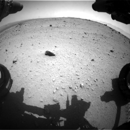 Nasa's Mars rover Curiosity acquired this image using its Front Hazard Avoidance Camera (Front Hazcam) on Sol 376, at drive 396, site number 14