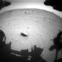 Nasa's Mars rover Curiosity acquired this image using its Front Hazard Avoidance Camera (Front Hazcam) on Sol 376, at drive 402, site number 14