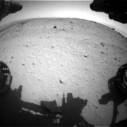 Nasa's Mars rover Curiosity acquired this image using its Front Hazard Avoidance Camera (Front Hazcam) on Sol 376, at drive 408, site number 14