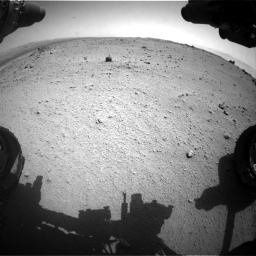 Nasa's Mars rover Curiosity acquired this image using its Front Hazard Avoidance Camera (Front Hazcam) on Sol 376, at drive 414, site number 14